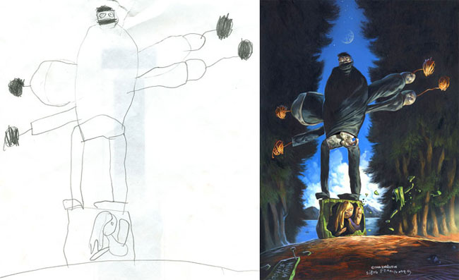 Dave Devries dibujos infantiles monstruo