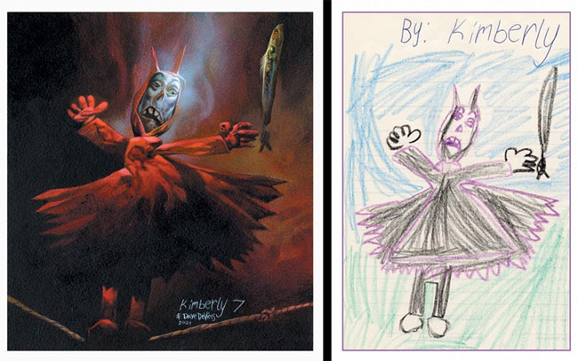 Dave Devries redibujando dibujos infantiles demonio