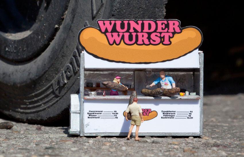 Un puesto de hamburguesas