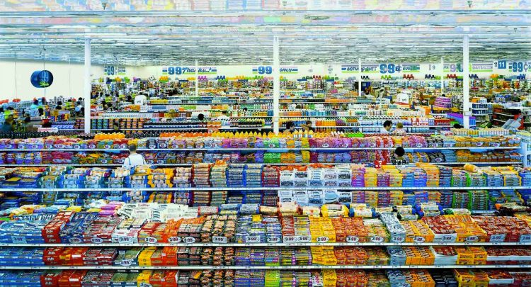 Andreas Gursky: 99 Cent II, Diptychon (1999)