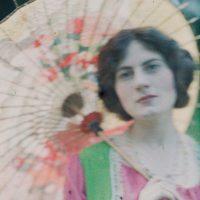 "Photo by John Cimin Walburg: 1909. ""The Japanese parasol."""
