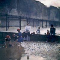 "Photo by John Cimin Walburg: 1908 ""Children by the breakwater."""