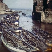 "Photo by John Cimin Walburg: 1915 ""Staithes Harbor."""