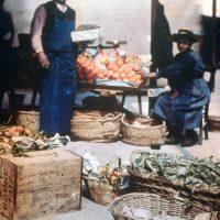 "Photo by John Cimin Walburg: 1908 ""The orange stall."""