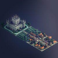 Ciudad Medieval, por Sir Carma (Voxel Art)
