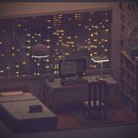Habitación silenciosa, por Sir Carma (Voxel Art)