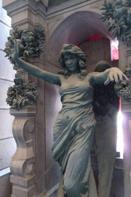 Cementerio Monumental de Staglieno. Foto de un angel.