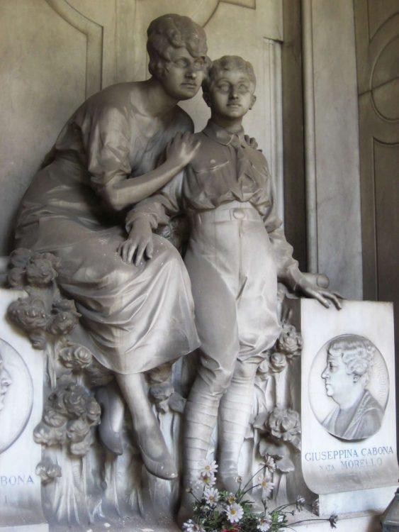 Cementerio Monumental de Staglieno, madre e hijos