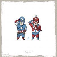 Capitán América vs Commander Steel