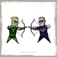 Green Arrow vs Hawkeye