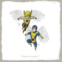 Hawkman vs Angel