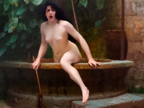 Jean-Léon Gérôme: La verdad saliendo de un pozo armada con un látigo para castigar a la humanidad. Artículo en Cultura Bizarra.